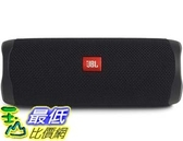 [9美國直購] JBL 揚聲器 FLIP 5 Waterproof Portable Bluetooth Speaker - Black [New Model]