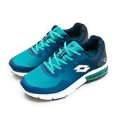 LIKA夢 LOTTO 專業避震氣墊慢跑鞋 AERO POWER 系列 藍綠白 0615 男