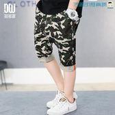【618好康又一發】童裝男童迷彩短褲夏裝中大童五分褲