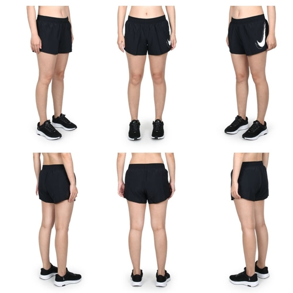 NIKE 女運動短褲(Dri-FIT 三分褲 慢跑 路跑 平織  ≡排汗專家≡