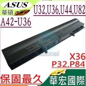 ASUS 電池(保固最久)-華碩  U32,U36,U44,U82,X36,P32,P84,U32J,U32JC,U32U,U36J,U36JC,A41-U36,A42-U36