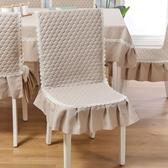 椅套椅子套罩坐墊靠墊一體墊加厚防滑連身餐椅套罩皮椅子墊布藝【快速出貨八五折】
