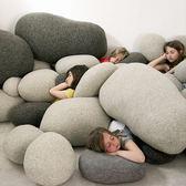 趨然石頭抱枕鵝卵石靠墊 沙發抱枕靠墊創意道具歐式場景佈置裝飾 igo 晶彩生活