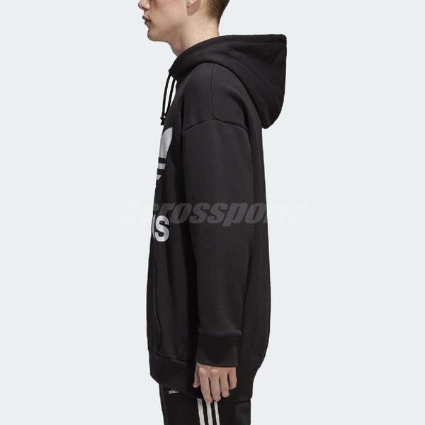 adidas 帽T Originals Oversize Hoodie 男款 連帽T恤 三葉草 基本款 黑白 黑 白 【ACS】 CW1246