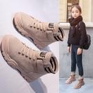 兒童靴子 女童馬丁靴2021秋季新款女童靴子二棉加絨兒童公主短靴女童鞋冬款 嬡孕哺