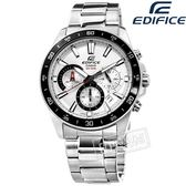EDIFICE CASIO / EFV-570D-7A / 卡西歐 經典三眼 計時碼錶 日期 防水100米 不鏽鋼手錶 銀色 42mm