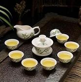 茶杯 陶瓷家用功夫茶具小套裝整套白瓷冰裂茶杯茶壺茶道茶盤自動泡茶器【快速出貨八折優惠】