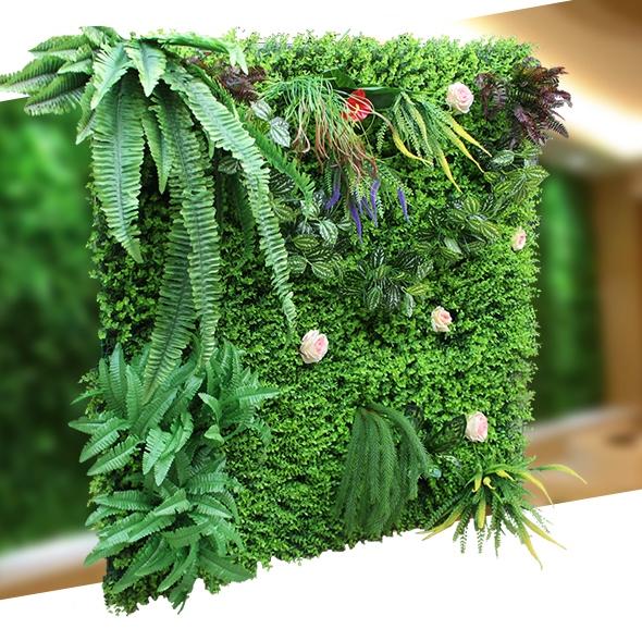 仿真植物牆綠植上牆壁陽台假花草皮牆面裝飾綠色人造草坪背景網紅 夏季特惠