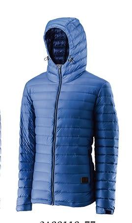 荒野Wildland 連帽輕量羽絨外套 羽絨服 (0A22112-77 中藍) 男~特惠5折