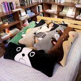 床上背靠墊 床上抱枕長條枕頭床頭夾腿靠墊靠枕大靠背墊男生款睡覺雙人枕可愛 京都3CYJT