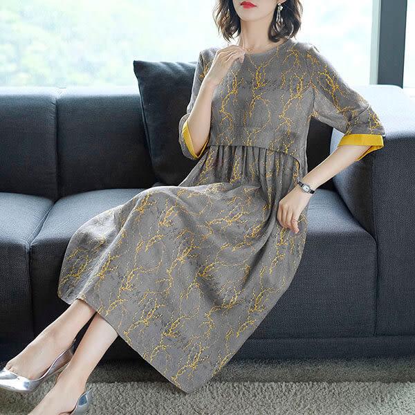 氣質 顯瘦剪裁洋裝-大尺碼 獨具衣格