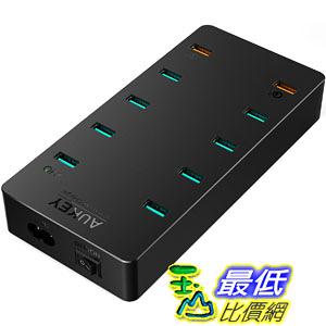 [106美國直購] AUKEY USB 快速充電器 Charger with Dual Quick Charge 3.0 Port & 8 USB Ports for Galaxy S8