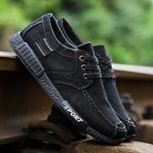 夏季男士帆布鞋透氣板鞋百搭工作鞋子男老北京布鞋男夏季休閒單鞋