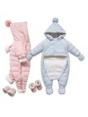 兒童嬰兒羽絨服連體衣外出抱衣嬰幼兒寶寶連體羽絨服0-1歲 格蘭小舖