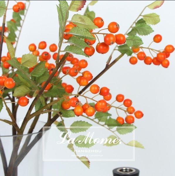 [協貿國際]新古典中式/仿真花亮桔色橘紅色黃色/小山楂果子配果配草果實裝飾