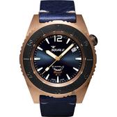 SQUALE 鯊魚錶 青銅限量款機械錶-藍/42mm CASSABRONB.PS
