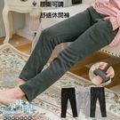 *孕婦裝*台灣製暖冬款鈕釦裝飾設計孕婦(腰圍可調)長褲 三色----孕味十足【CNO6555】