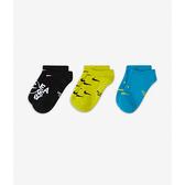 Nike Y EVRYDY LTWT NS 3PR NKDAY 大童 三雙入 黑黃藍 笑臉 隱形襪 CU8135-902