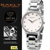 【完全計時】手錶館│BAKLY 極簡約鋼帶腕錶晶鑽 BAS6201-4ST名媛款 瑞士機芯/水晶鏡面 35mm