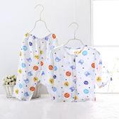 嬰兒睡衣4薄款綿綢6開衫9兒童3個月
