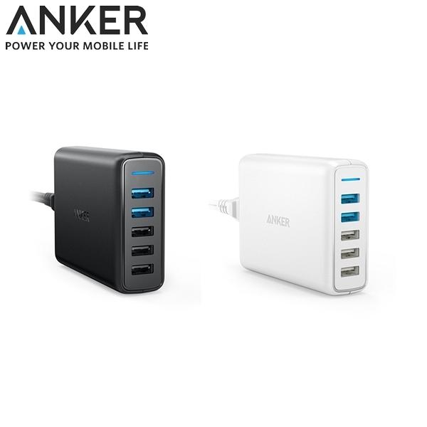 又敗家@美國Anker多重安全保護充電座63W 5孔Port座充USB快速充電器智慧QC3.0 USB壁充電頭多孔充電座