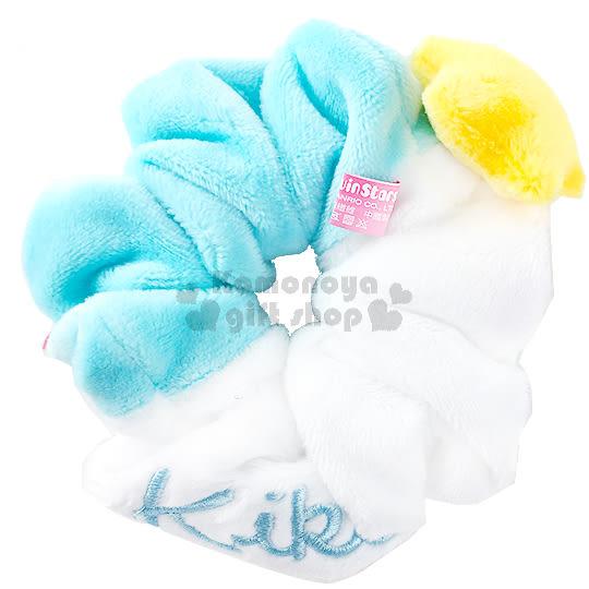 〔小禮堂〕雙子星 絨毛造型髮圈《白藍.KIKI.立體星星》也可當可愛手環 4712977-46206