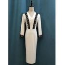 洋裝 M高檔洋裝小禮服女 新款職業連衣裙氣質顯瘦宴會年秋裝端莊大氣