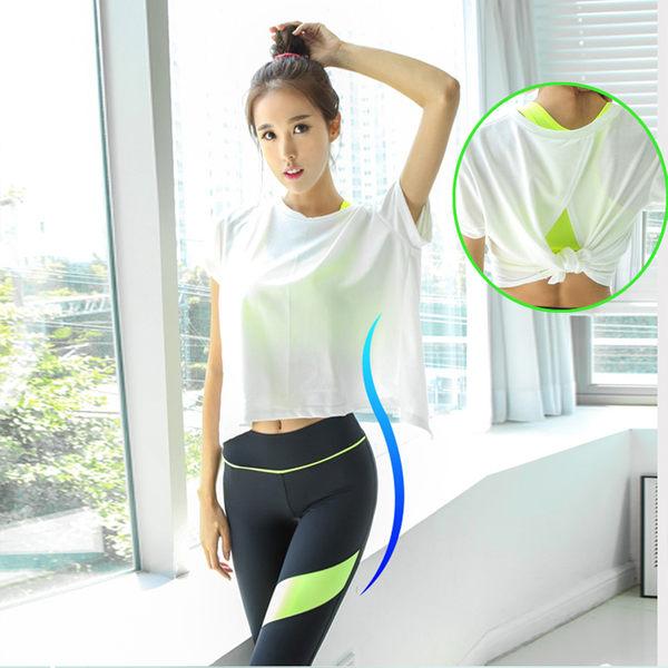 瑜伽服套裝緊身跑步運動背心女春夏季顯瘦修身健身服套裝   - 10640017