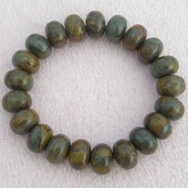 【歡喜心珠寶】【天然女媧石車輪珠造型手鍊】道教篤信,稱為開運靈石「附保証書」