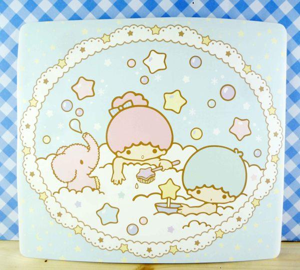 【震撼精品百貨】Little Twin Stars KiKi&LaLa 雙子星小天使~雙面卡片-藍洗澡/紫房間