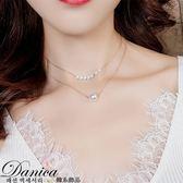 項鍊 現貨 韓國 氣質 甜美 浪漫 女神 性感.簡約.雙層.珍珠.短項鍊 鎖骨鍊 S2547 Danica 韓系飾品