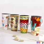 Bbay 陶瓷杯 喝水杯 馬克杯 水杯 帶蓋 喝水杯 大容量 咖啡杯 陶瓷杯