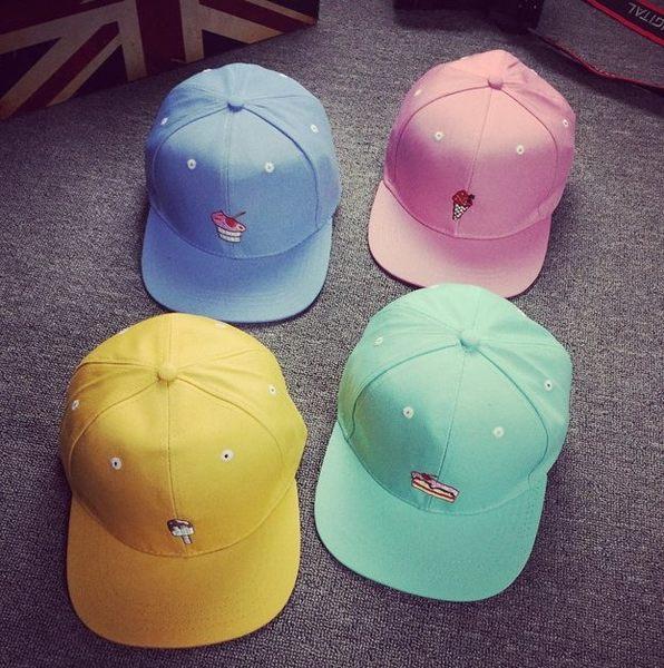找到自己】 春夏 冰淇淋 水果 卡通 版帽 可愛帽 粉色 帽子 snpack 棒球帽 鴨舌帽 潮流帽 街頭 粉