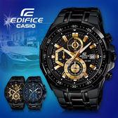 CASIO手錶專賣店 卡西歐  EDIFICE EFR-539BK-1A 男錶 三針三眼 防水100米 碼錶 黑色離子IP處理
