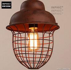INPHIC- 工業風格復古吊燈美式創意咖啡館酒吧吧台鍋蓋鳥籠單頭吊燈-K款_S197C