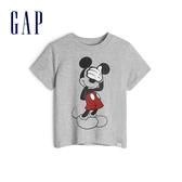 Gap男幼Gap x Disney 迪士尼系列米奇棉質圓領短袖T恤548757-淺麻灰