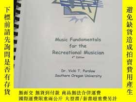 二手書博民逛書店Music罕見Fundamental for the Recreational Musician 4th Edit