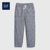 Gap 男幼童 輕盈質感鬆緊腰休閒褲 541882-藍灰色