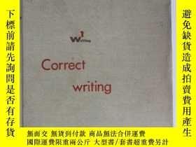 二手書博民逛書店英文原版罕見正確的寫作Correct writingY23787