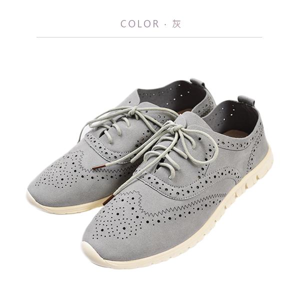 ORWARE-軟皮透氣休閒鞋 652093-05灰