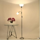 110V-220V 落地燈床頭書房客廳客房子母燈美式學習立式落地檯燈--不送光源
