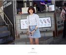 (全館免運) -韓國排扣高腰顯瘦A字牛仔裙短裙。【A-179】