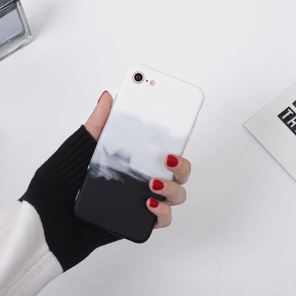 iPhone手機殼 經典限量款。可掛繩 黑白簡約水墨 矽膠軟殼 蘋果iPhone7/iPhone6 手機殼