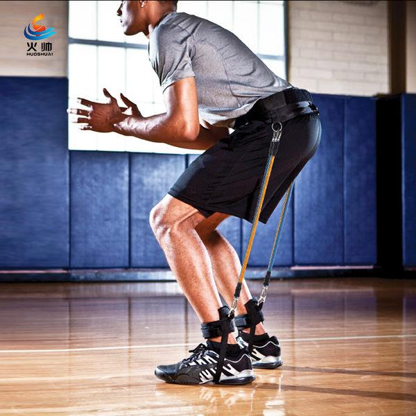 籃球訓練器材男士拉力繩腿部彈跳訓練繩彈力繩拉力器健身器材家用【時尚家居館】