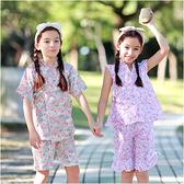 短袖套裝 日式和服 夏日浴衣 造型服 女童 派對 扮演服 Augelute 42188