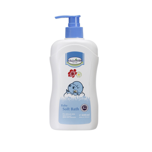 【任二入88折】Baan貝恩 -【保濕系列】嬰兒沐浴精Baby Soft Bath 400ml