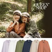 Queen Shop【01023163】基本素面簡約襯衫 六色售*現+預*