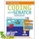 [106美國直購] 2017美國暢銷兒童書 DK Workbooks: Coding with Scratch Workbook