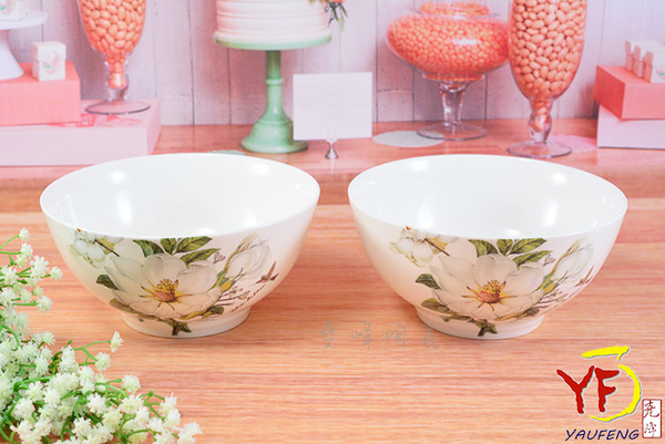 ★餐桌系列★骨瓷 白山茶 6吋高腳湯碗 碗公麵碗 單入 | 新婚贈禮 | 新居落成禮現貨