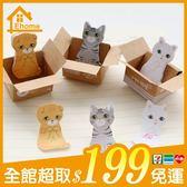 ✤宜家✤紙箱貓咪便利貼 N次貼